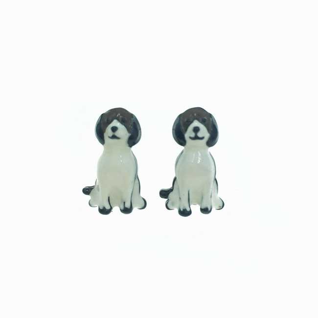 不鏽鋼 狗狗 動物 可愛趣味 耳針式耳環