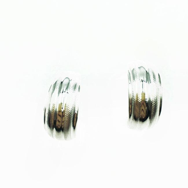韓國 925純銀 簡約金屬 歐美款 耳針式耳環