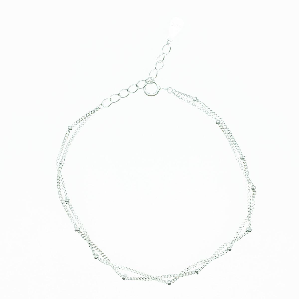 韓國 925純銀 小銀珠 珠鍊 簡約款 手飾 手鍊