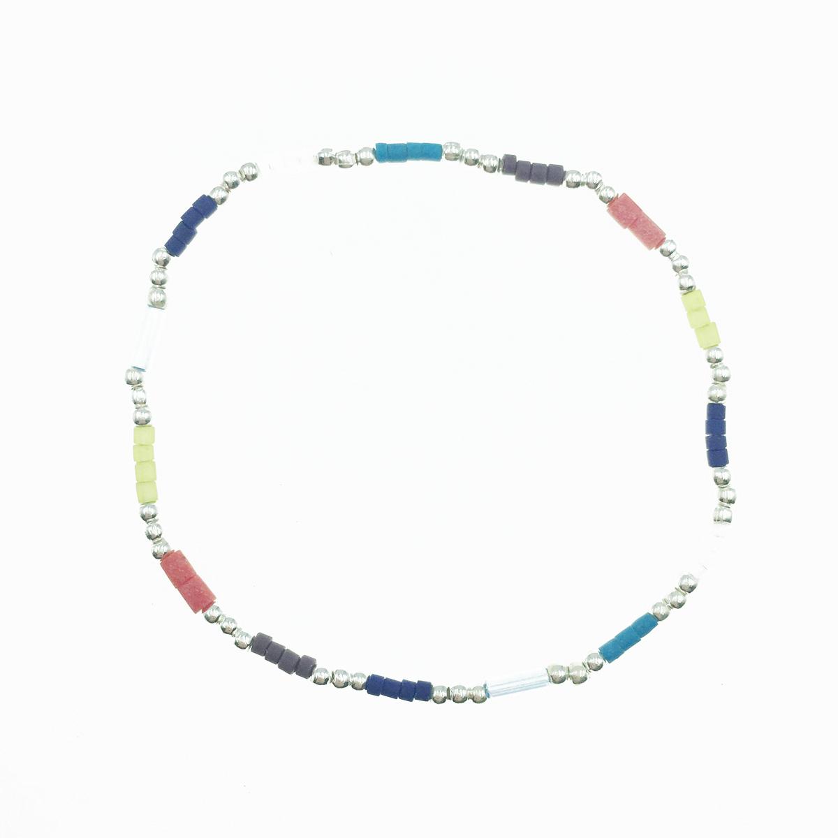 韓國 925純銀 小銀珠 串珠 彈性 手飾 手鍊