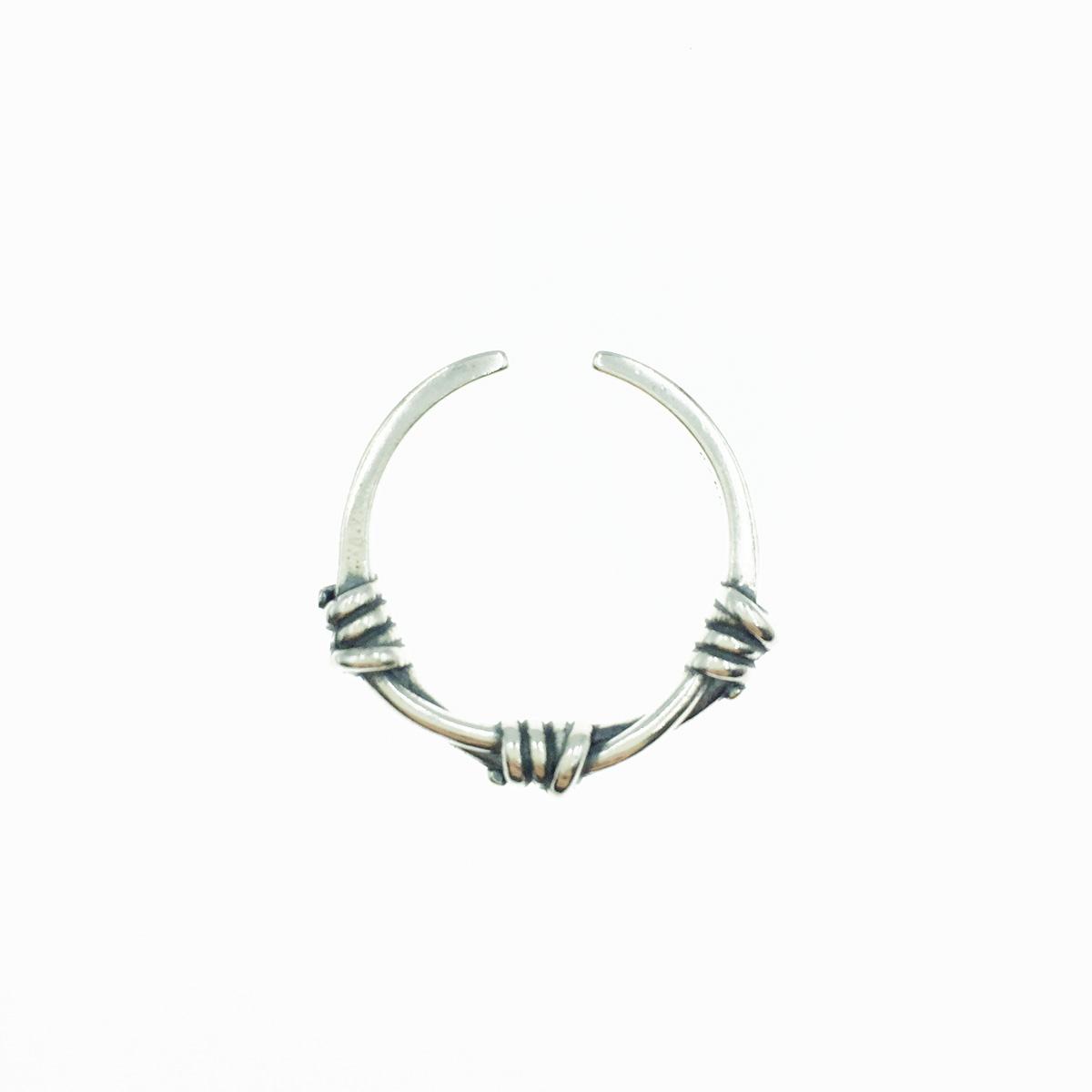 韓國 925純銀 螺旋交錯 歐美金屬風 個性款 戒指