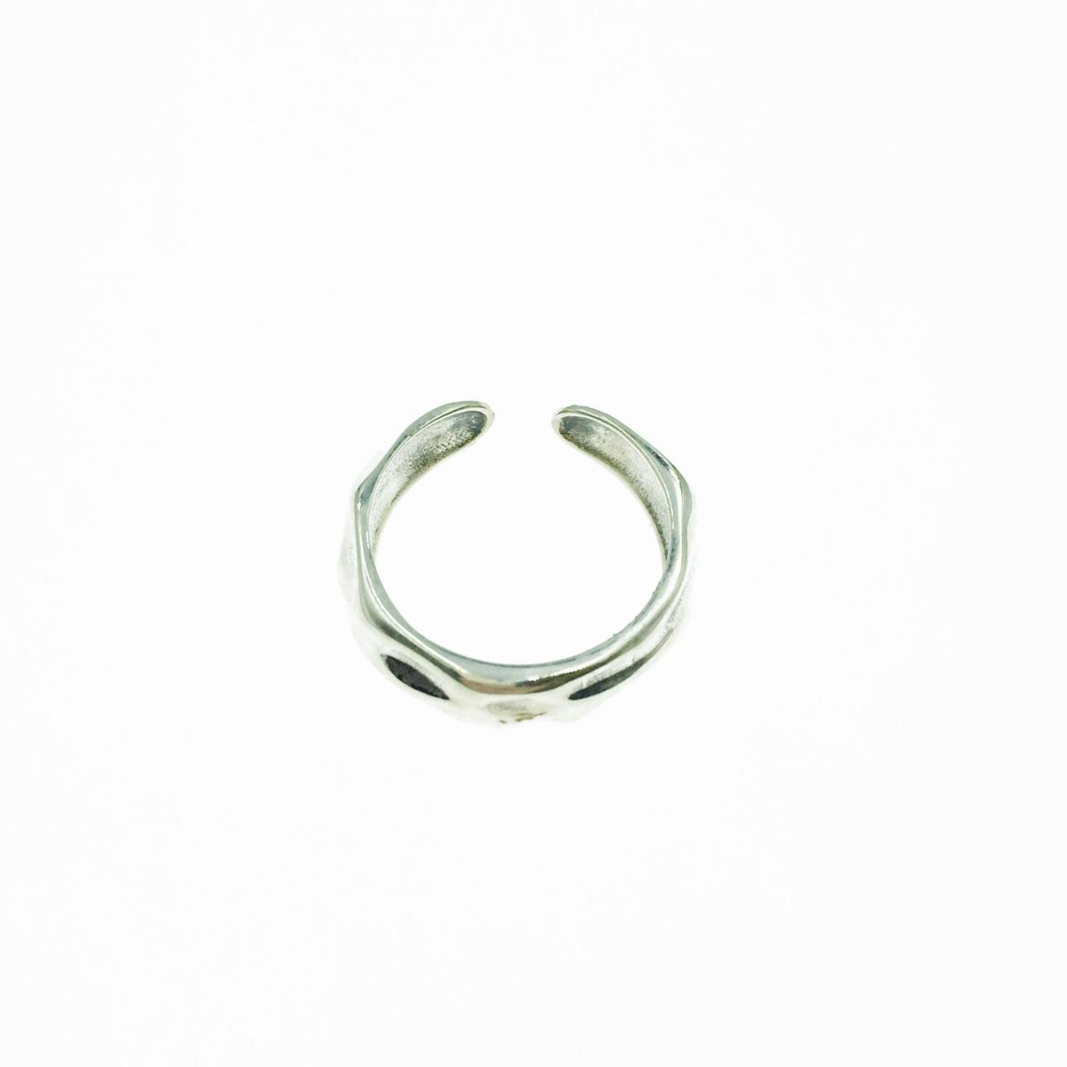韓國 925純銀 不規則面 金屬 歐美個性風 可調式 戒指