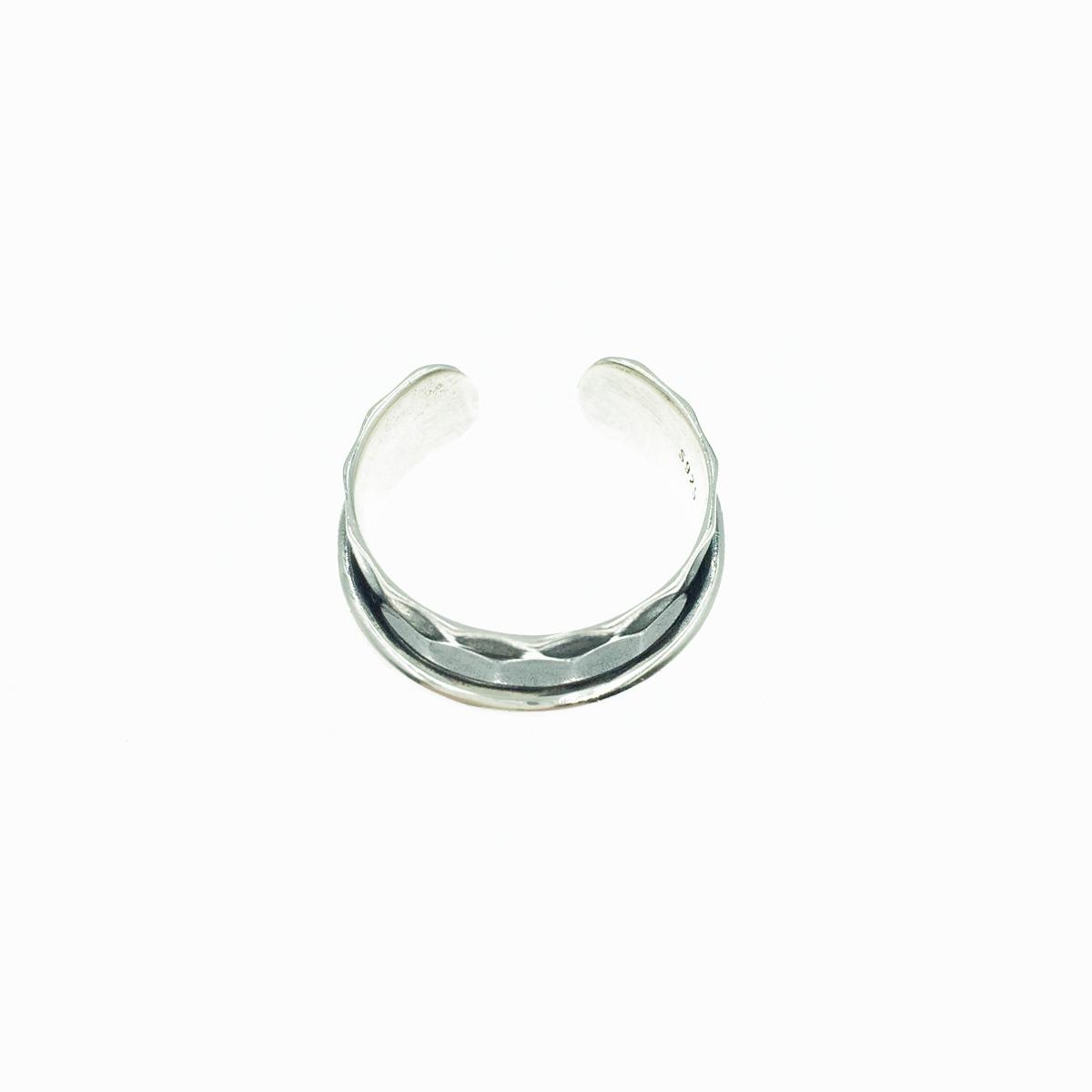 韓國 925純銀 金屬面 寬版 個性款 歐美風 可調式 戒指
