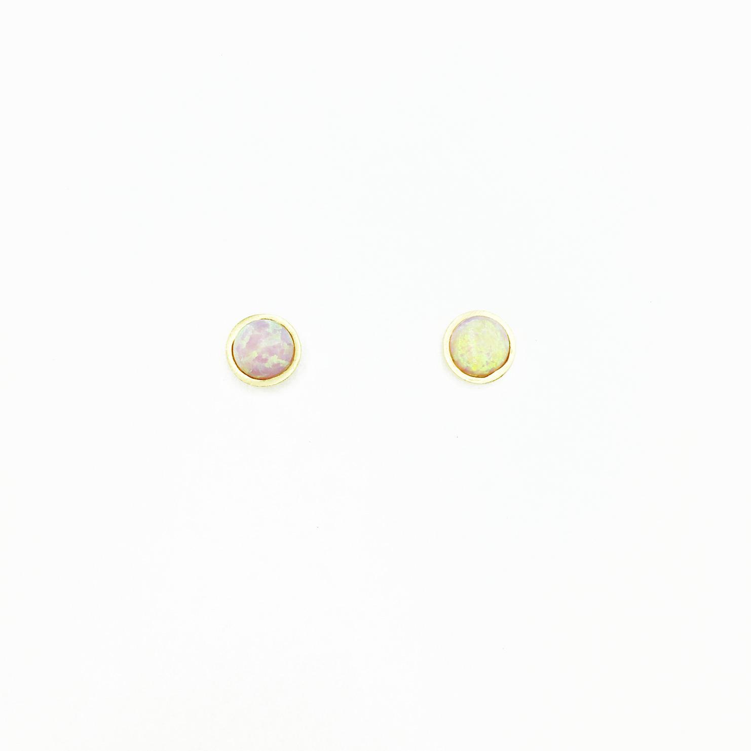 韓國 925純銀 圓 金邊 簡約 耳針式耳環