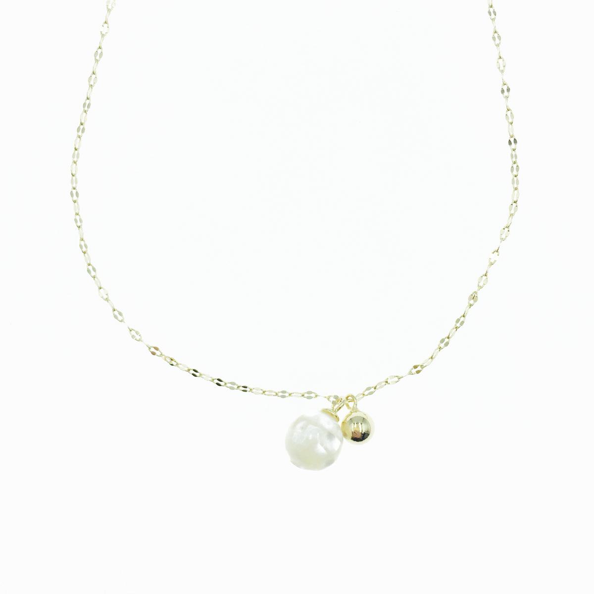 韓國 925純銀 小金珠 墜飾 金色 項鍊
