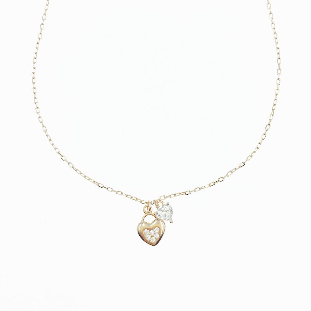 韓國 925純銀 愛心 墜飾 水鑽 玫瑰金 質感項鍊
