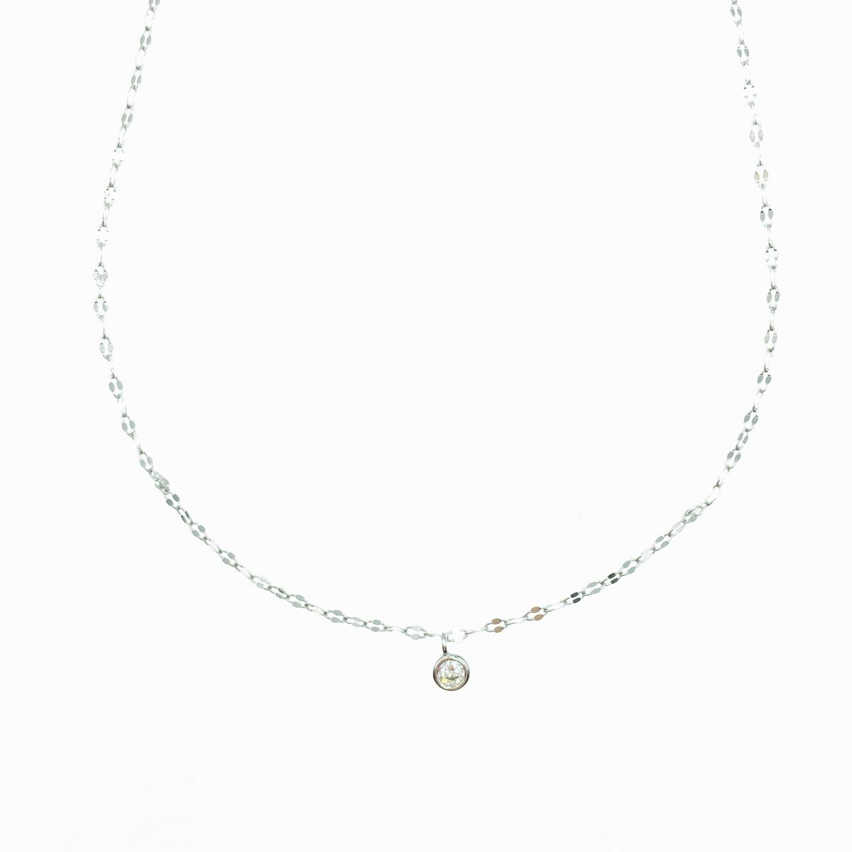 韓國 925純銀 水鑽 閃耀單鑽 簡約百搭 質感項鍊