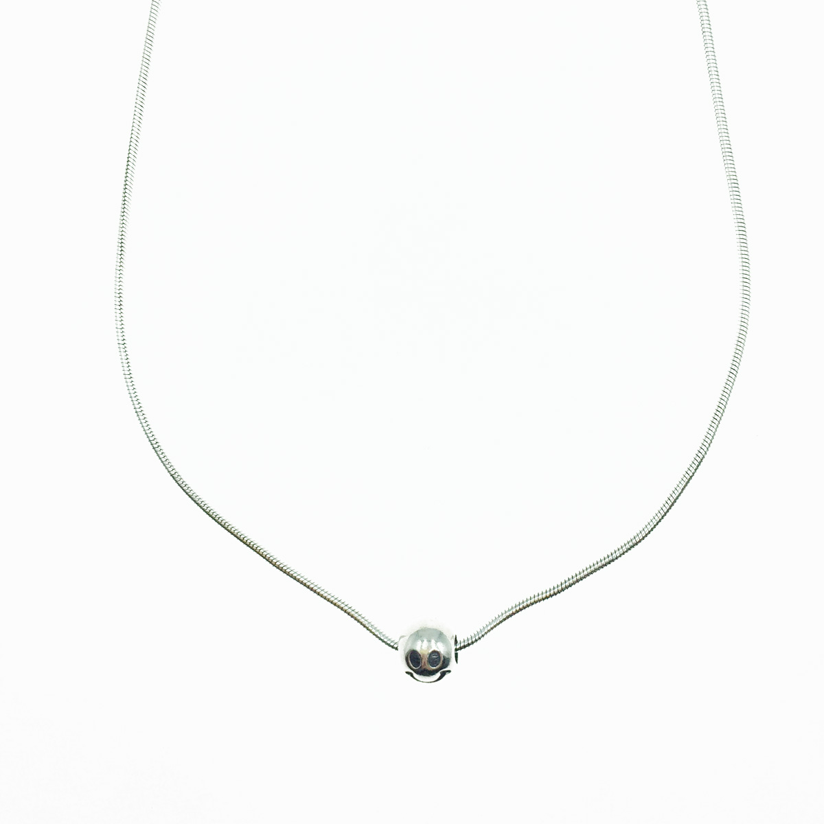 韓國 925純銀 笑臉 金屬歐美風 可愛 項鍊