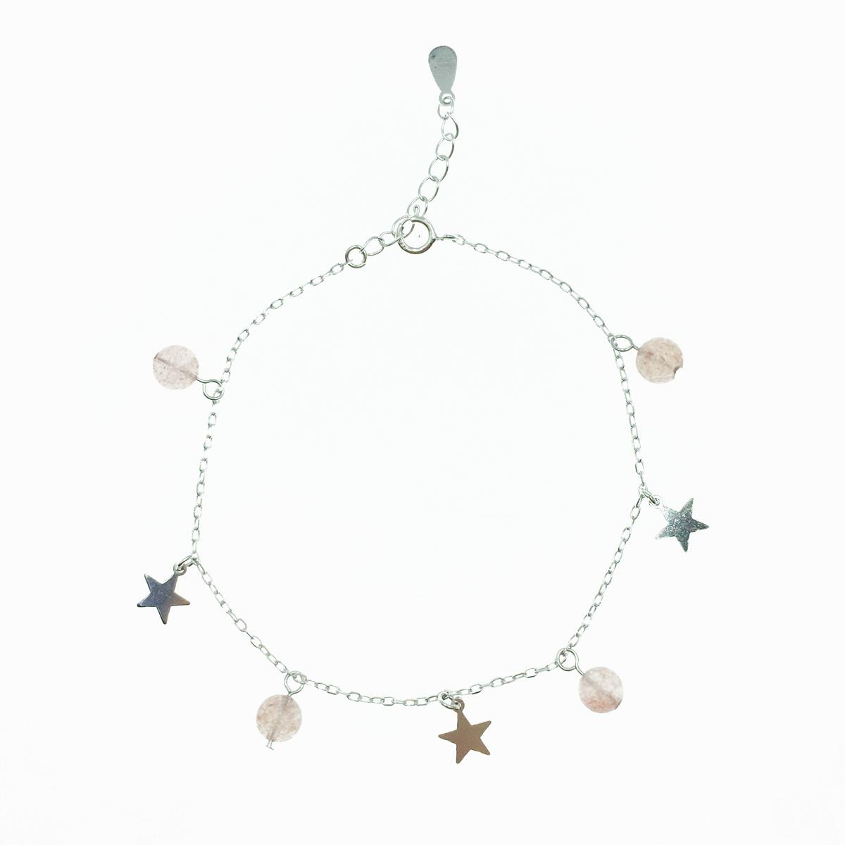 韓國 925純銀 星星 墜飾 珠珠 質感 手飾 手鍊