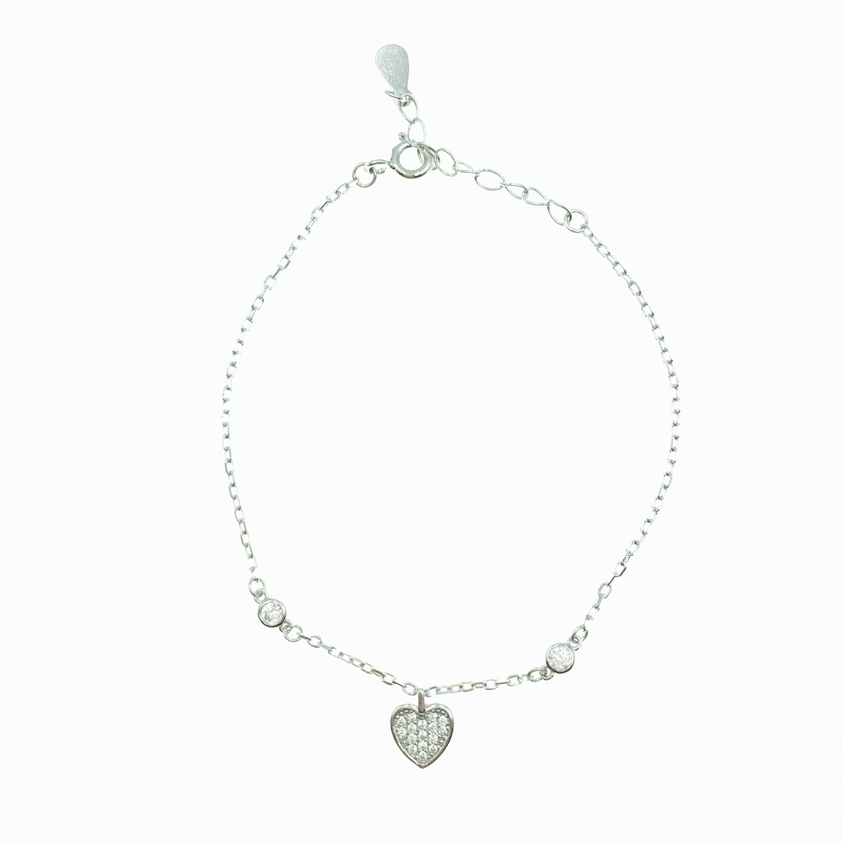 韓國 925純銀 水鑽愛心 甜美 手飾 手鍊