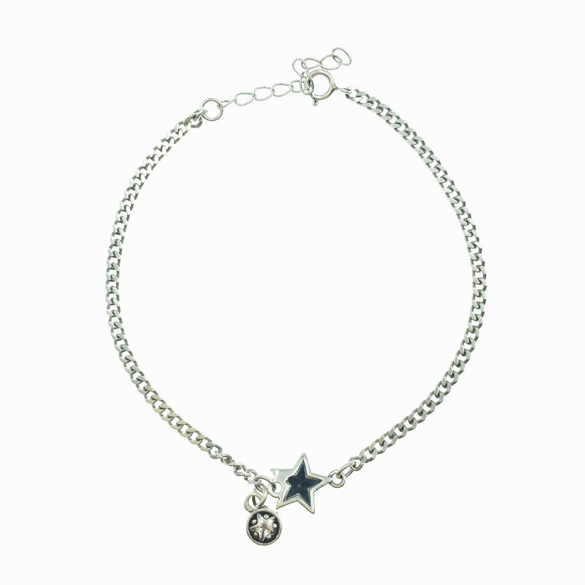 韓國 925純銀 金屬星星 水鑽 羅馬數字 手飾 手鍊