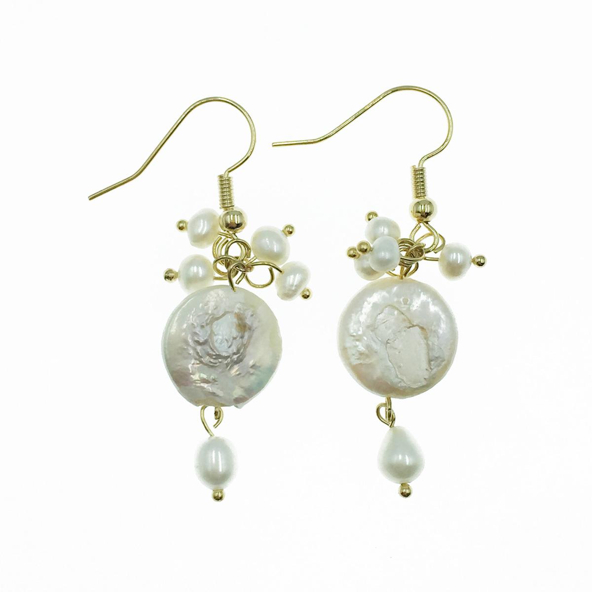 韓國 925純銀 珍珠 氣質優雅風 垂墜感 耳勾式耳環
