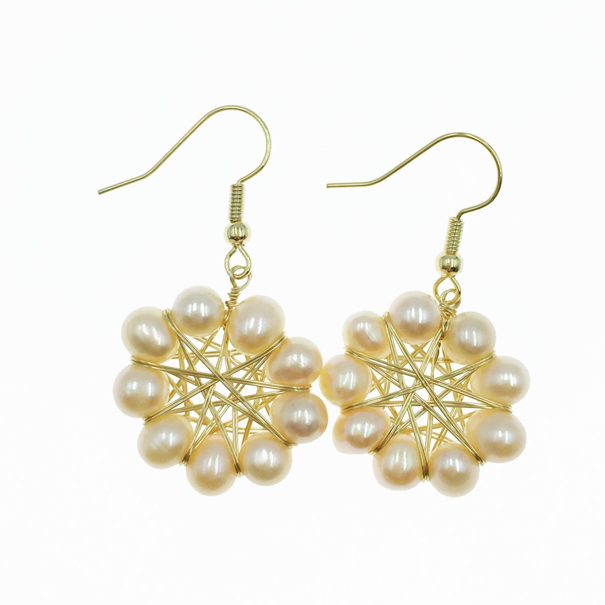 韓國 925純銀 珍珠 氣質款 優雅 垂墜感 耳勾式耳環