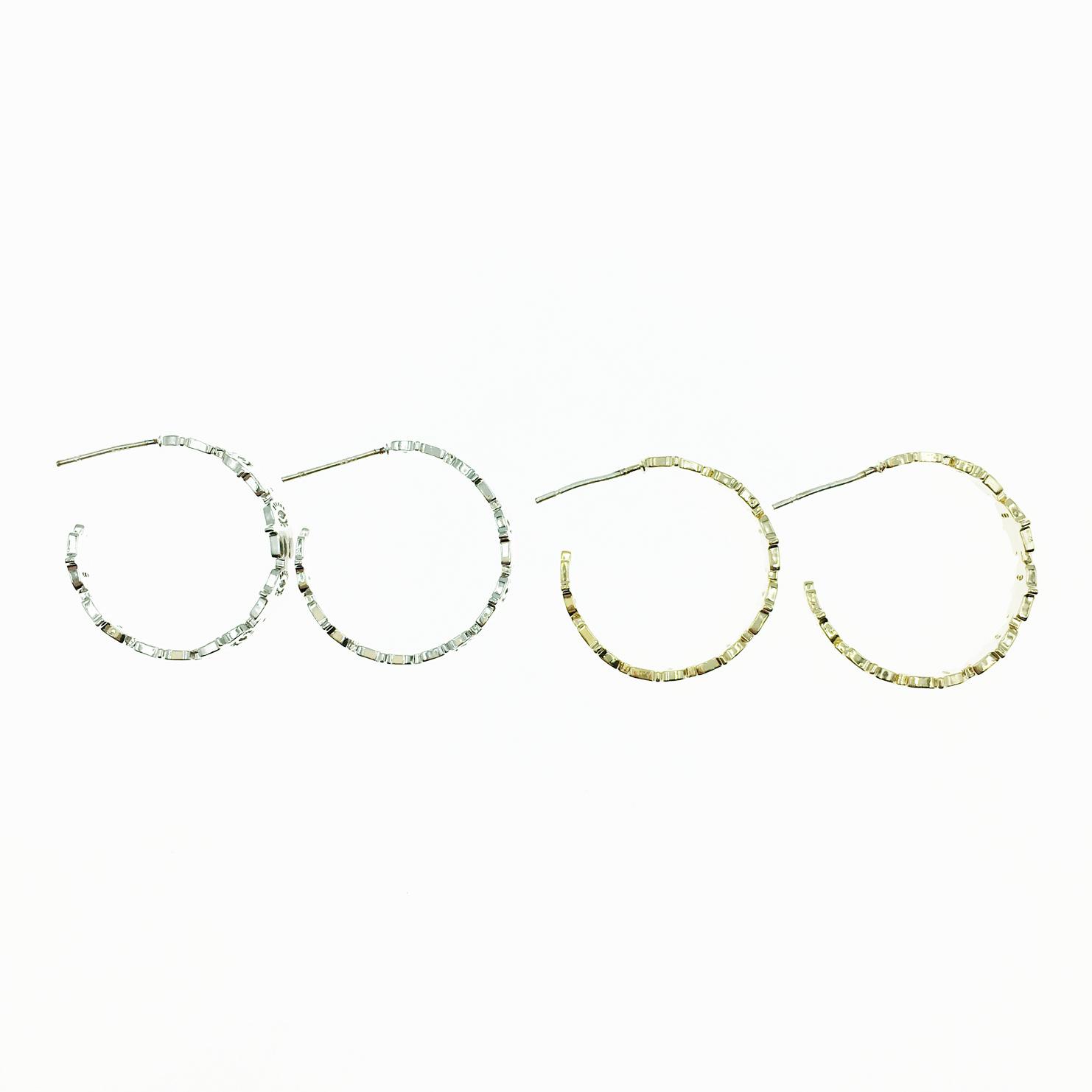 韓國 925純銀 C環圈 手掌造型 2色 耳針式耳環