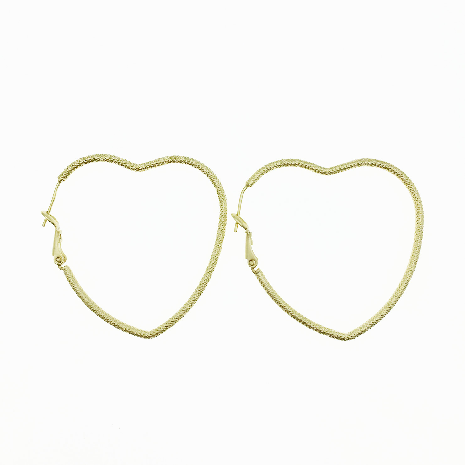 韓國 925純銀 愛心 金屬簍空造型 霧金 簡約歐美風 耳針式耳環
