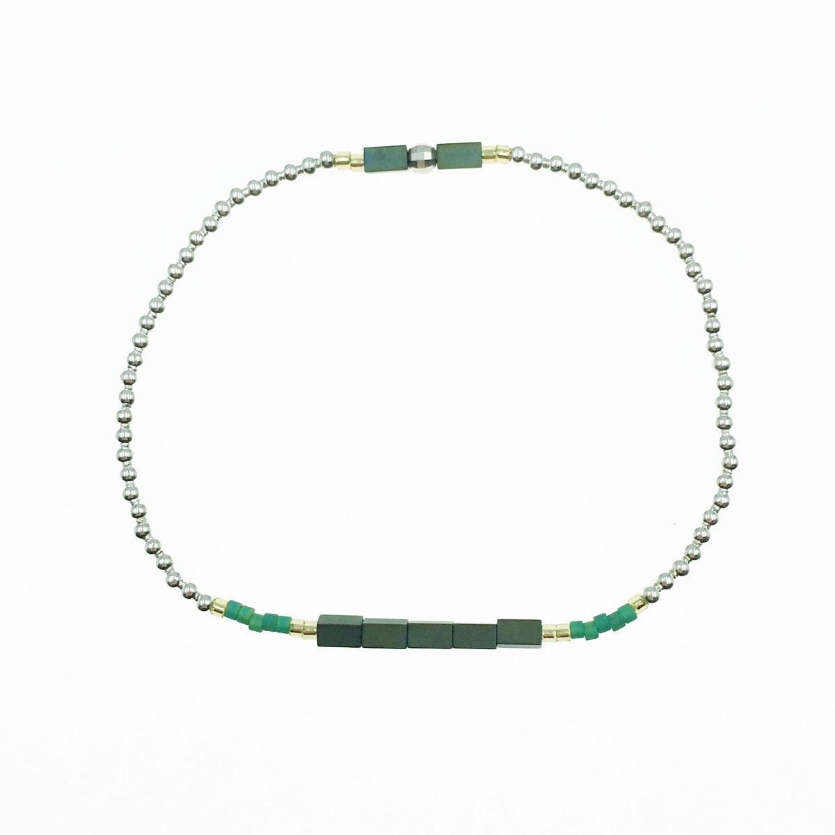 韓國 925純銀 小銀珠 串珠 彈力手環