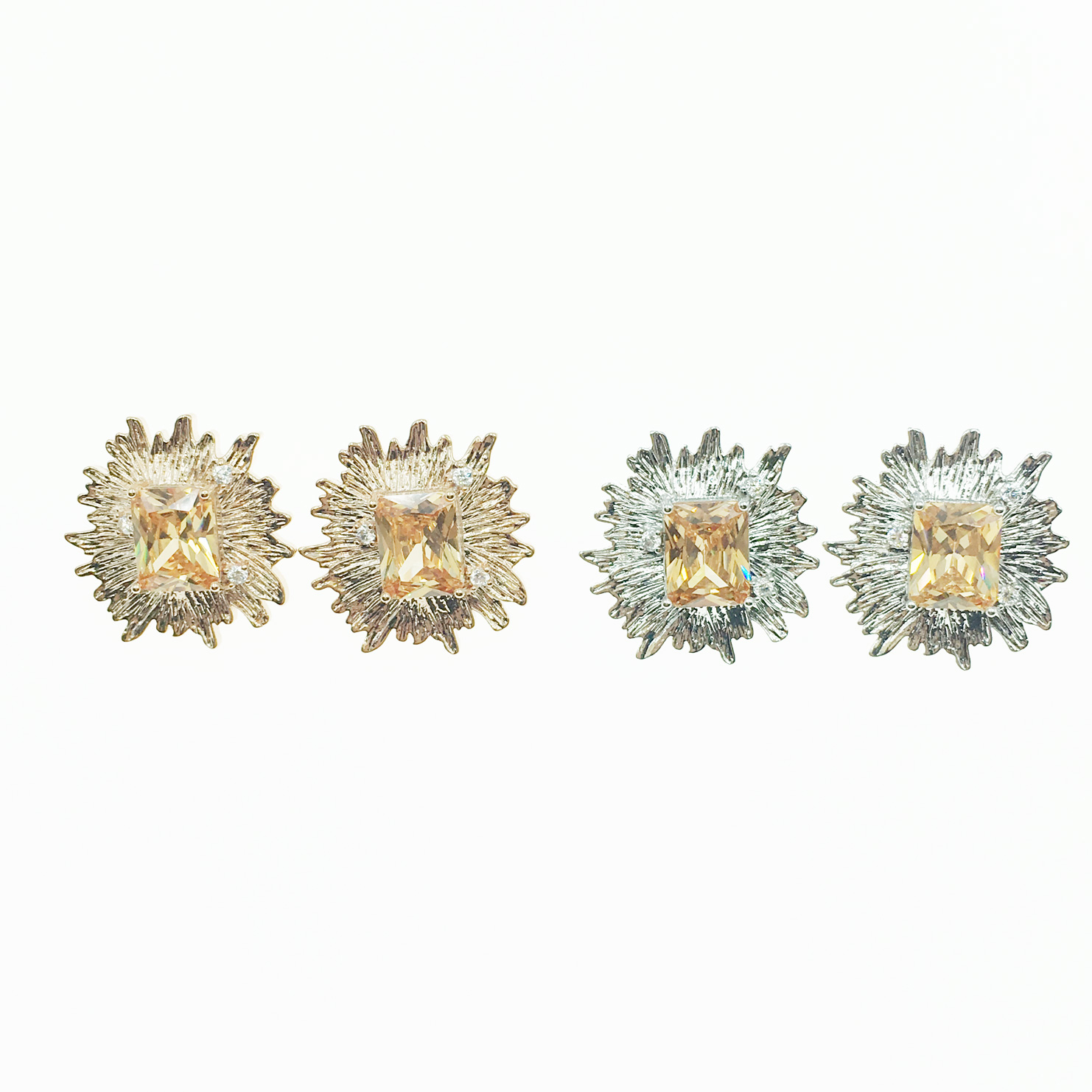 韓國 925純銀 明星款 鑽 精緻 2色 耳針式耳環