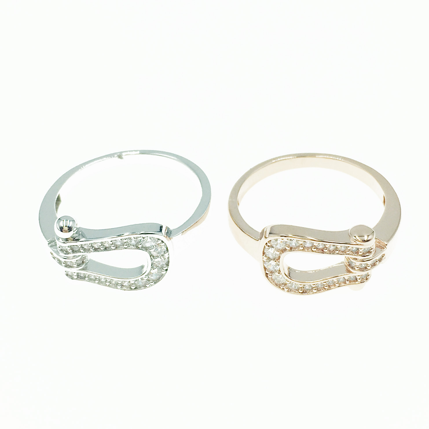 韓國 明星款 簍空 水鑽 銀 玫瑰金 戒指