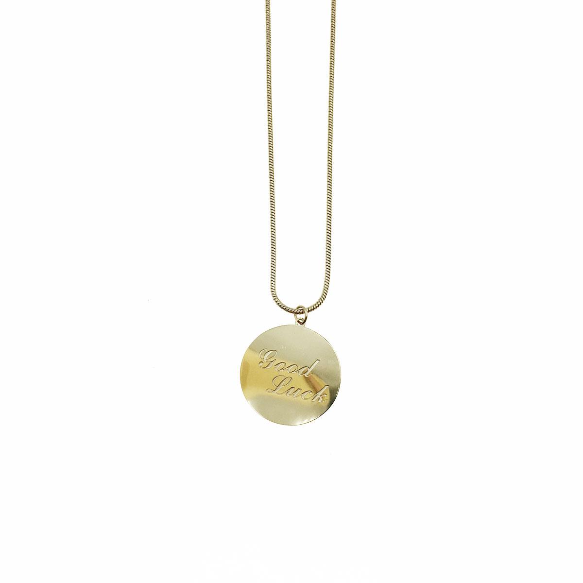 韓國 不銹鋼 金屬感 英文 圓 鎖骨鍊 短鍊 項鍊 飾品