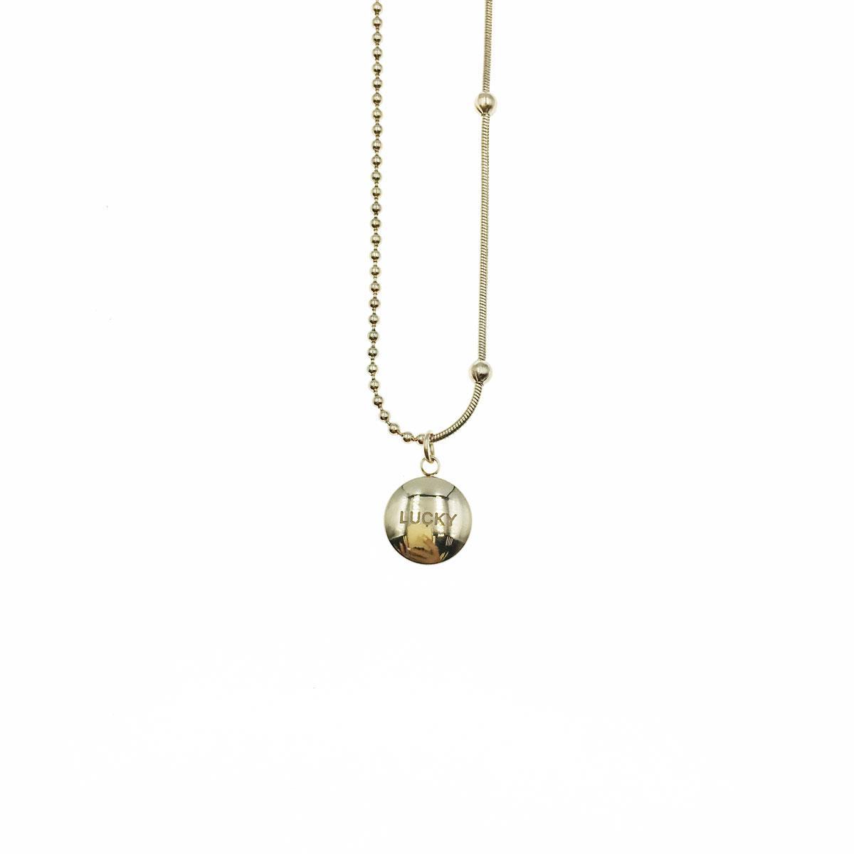 韓國 不銹鋼 英文 簡約 金屬感 鎖骨鍊 短鍊 項鍊 飾品