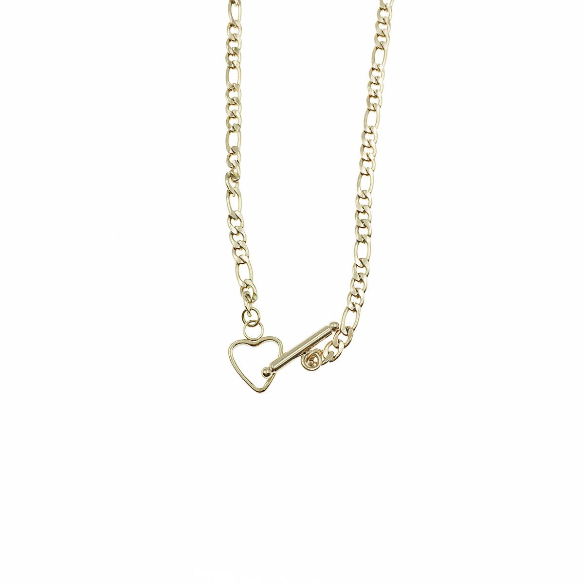 韓國 不銹鋼 愛心 簍空 墜扣 簡約 鎖骨鍊 短鍊 項鍊 飾品