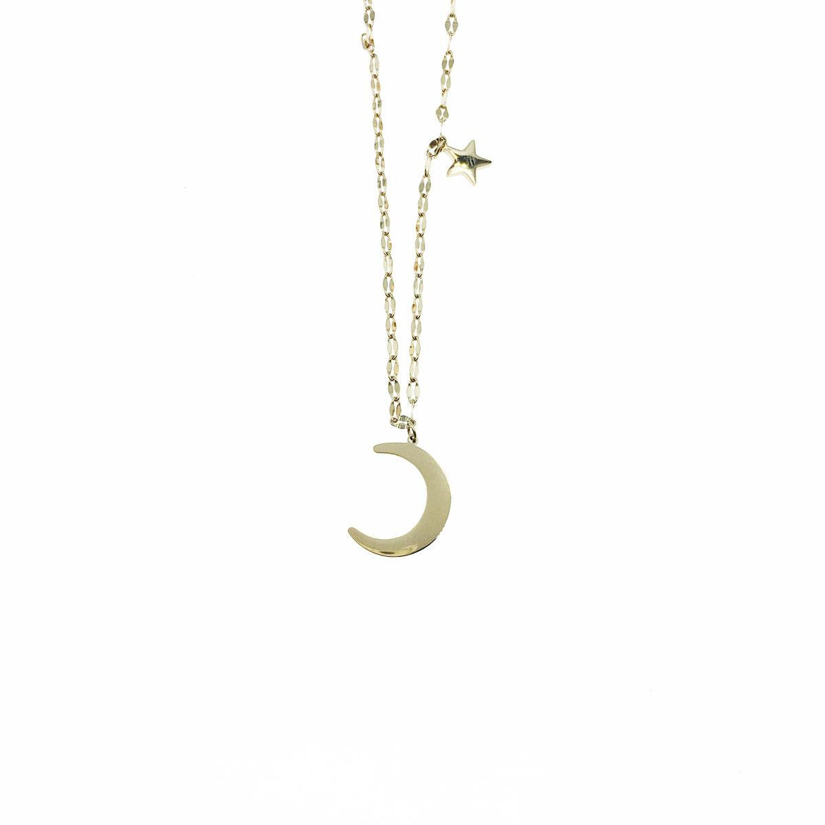 韓國 不銹鋼 星星 月亮 鎖骨鍊 短鍊 項鍊 飾品