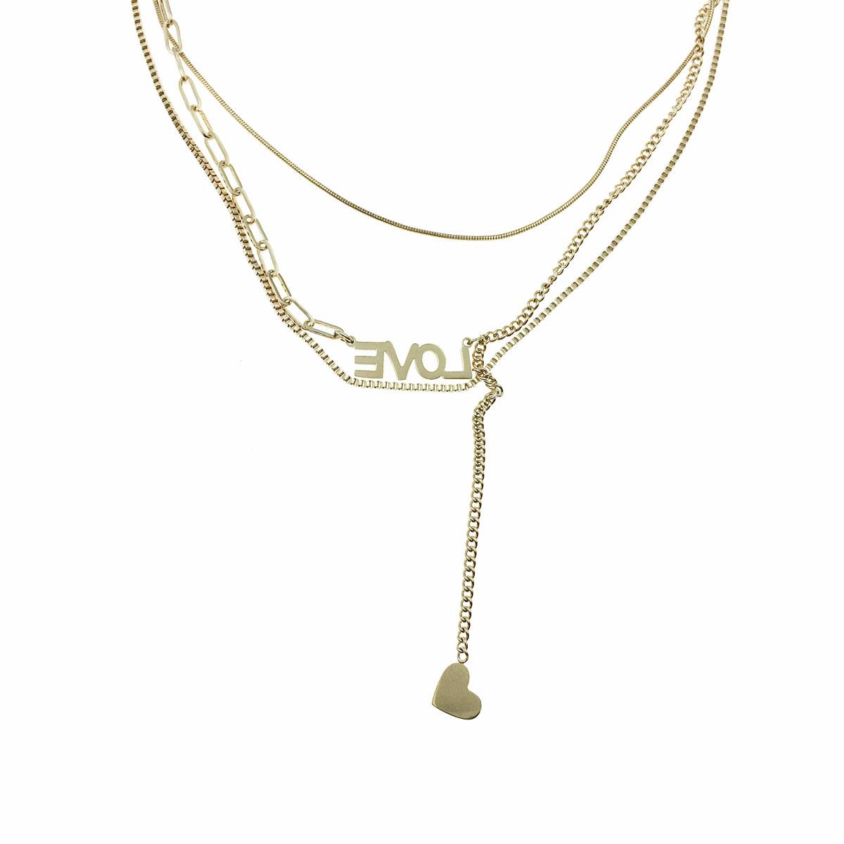 韓國 不銹鋼 love 鎖骨鍊 短鍊 項鍊 飾品