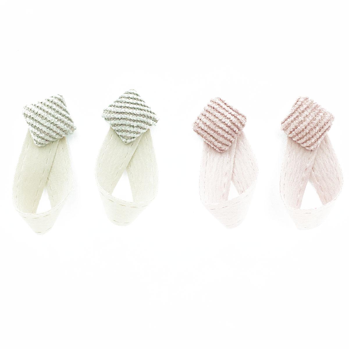 韓國 925純銀 絨毛 正方型 垂墜感 兩色 耳針式 耳環