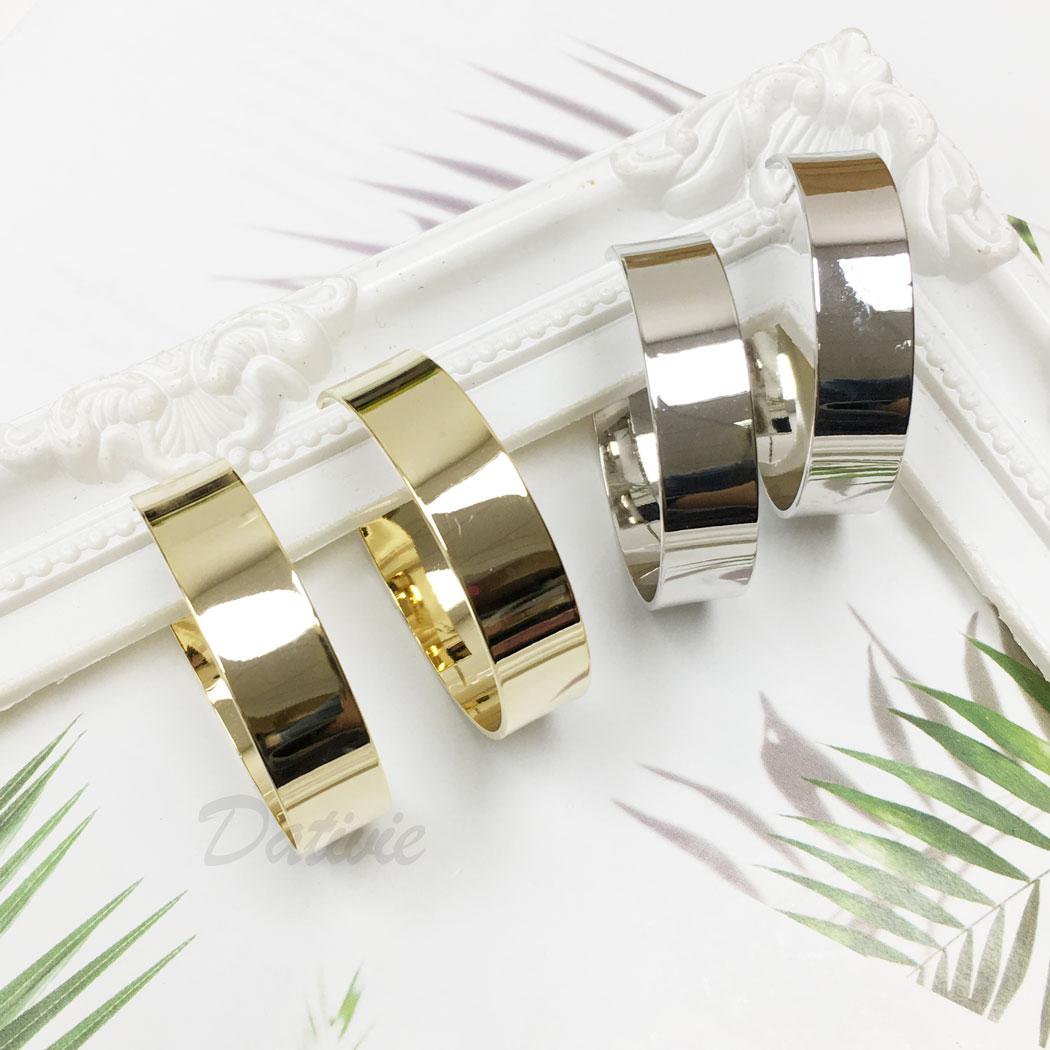 韓國 925純銀 C字形 簡約 歐美風 兩色 垂墜感 耳針式 耳環