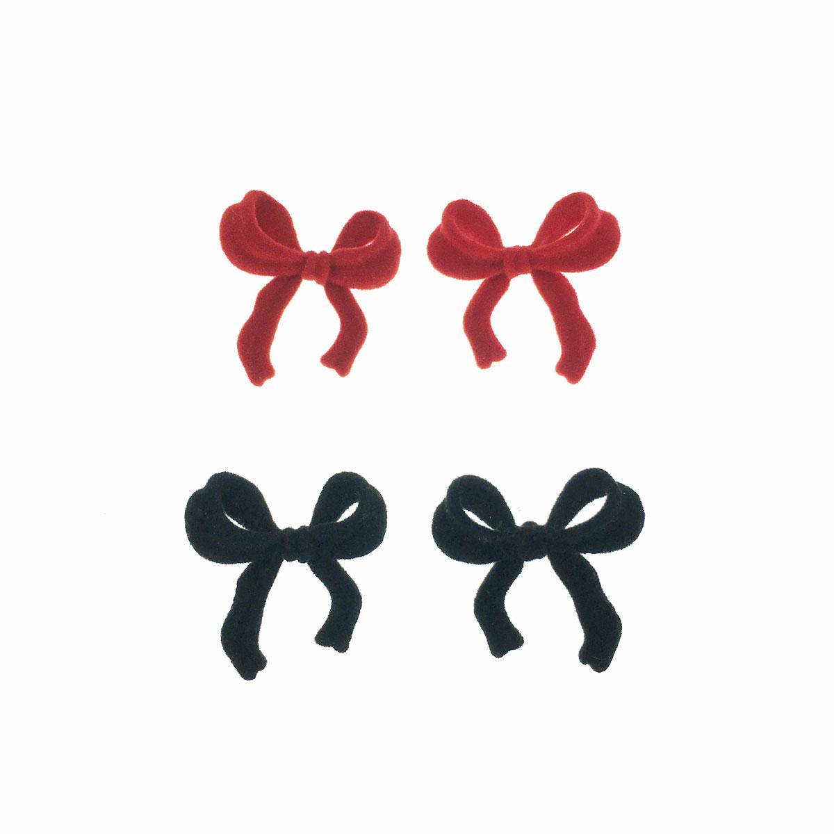 韓國 925純銀 蝴蝶結 立體 兩色 耳針式 耳環