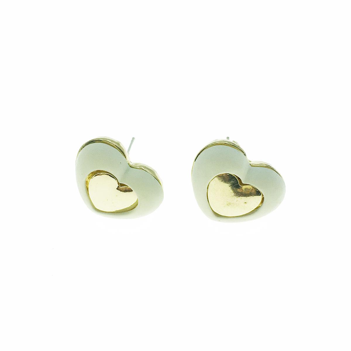 韓國 925純銀 愛心 耳針式 耳環