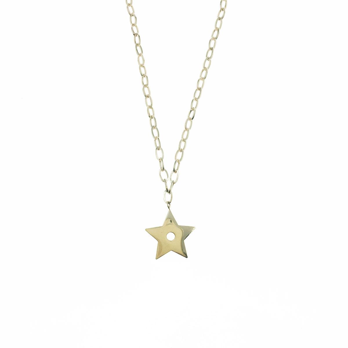韓國 不銹鋼 星星 簍空 金屬感 鎖骨鍊 短鍊 項鍊
