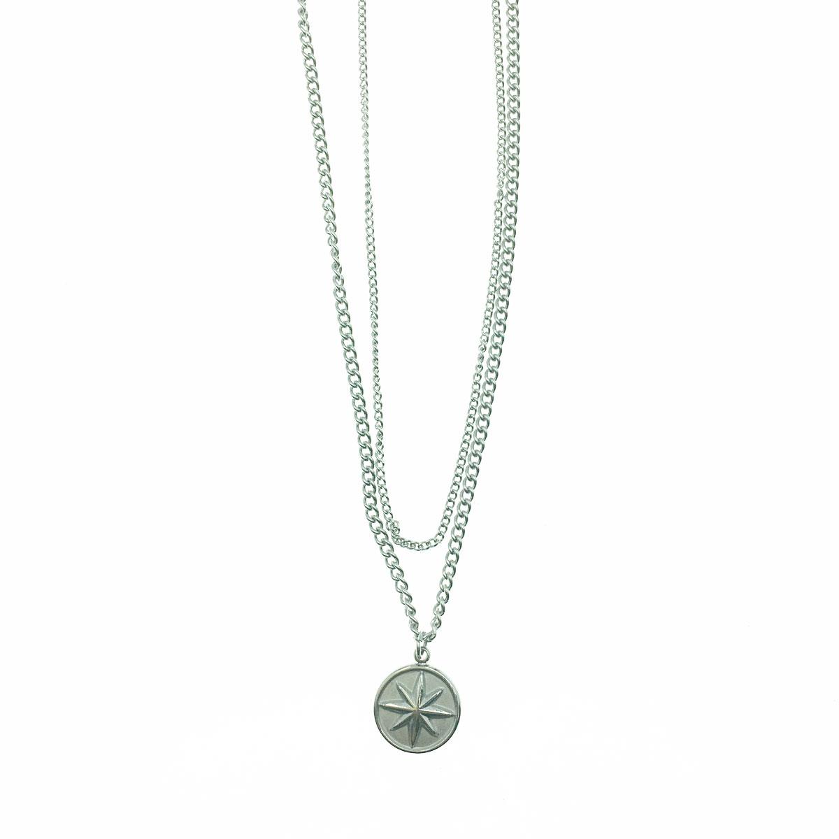韓國 不銹鋼 星星 雙層 鎖骨鍊 短鍊 項鍊