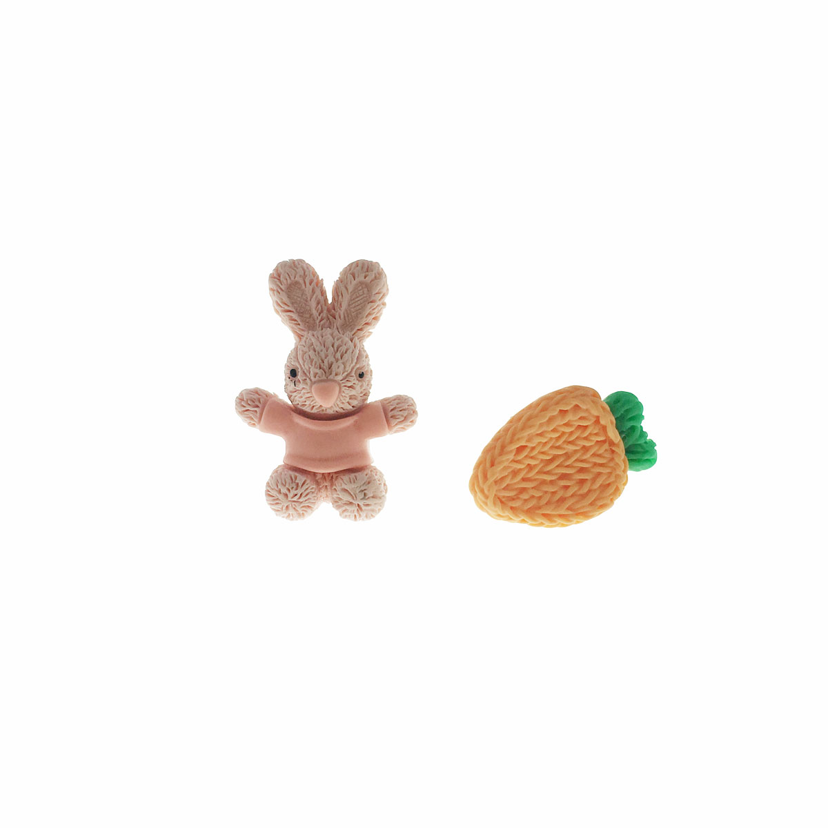 925純銀 可愛 兔子 胡蘿蔔 耳針式 耳環