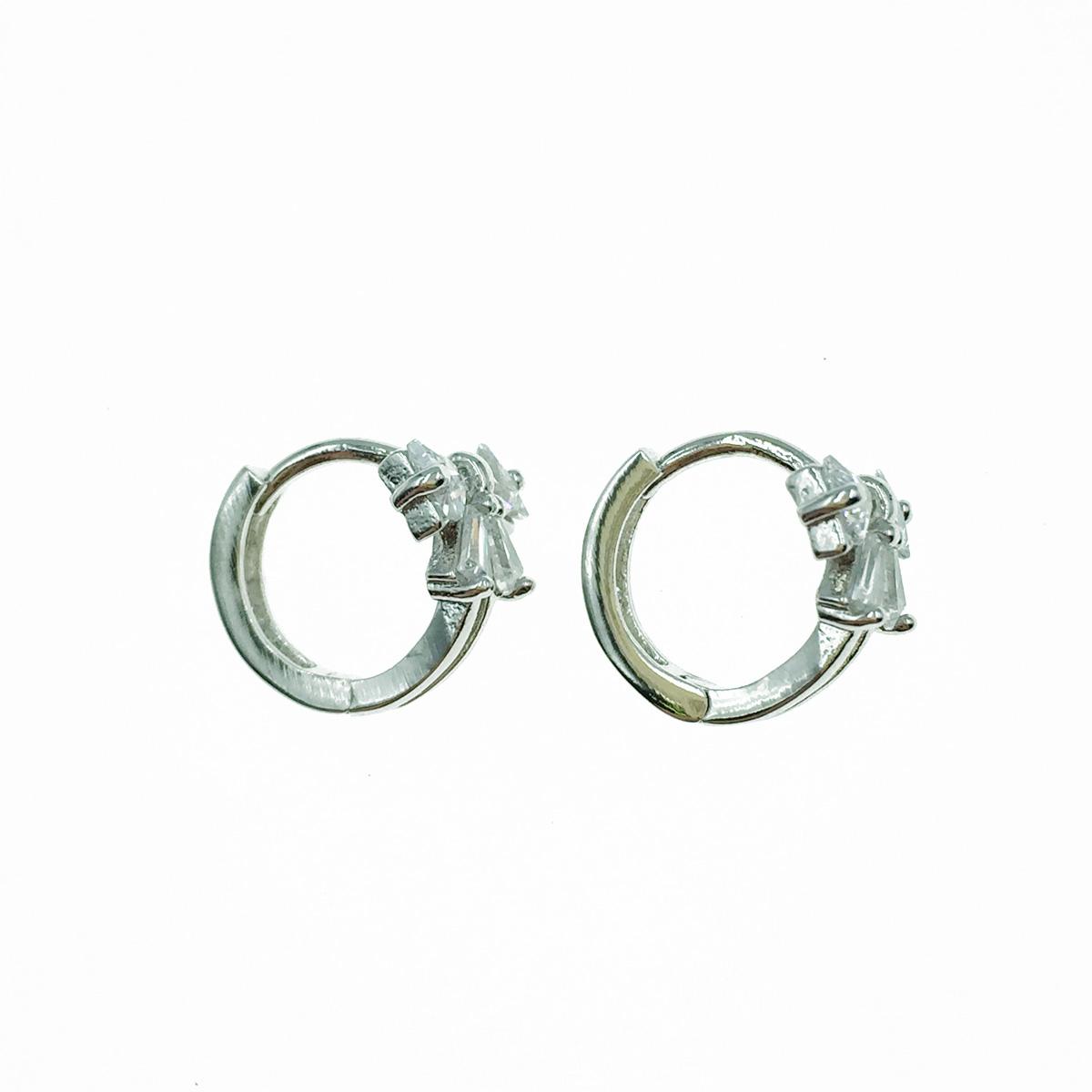 韓國 925純銀 蝴蝶結 水鑽 易扣式 耳針式耳環
