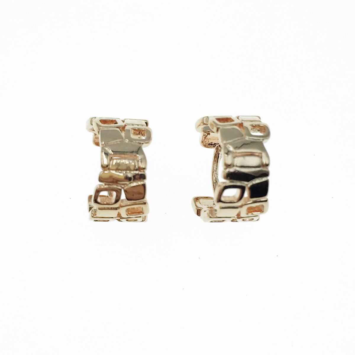 韓國 925純銀 簍空造型 玫瑰金 金屬歐美風 耳針式耳環