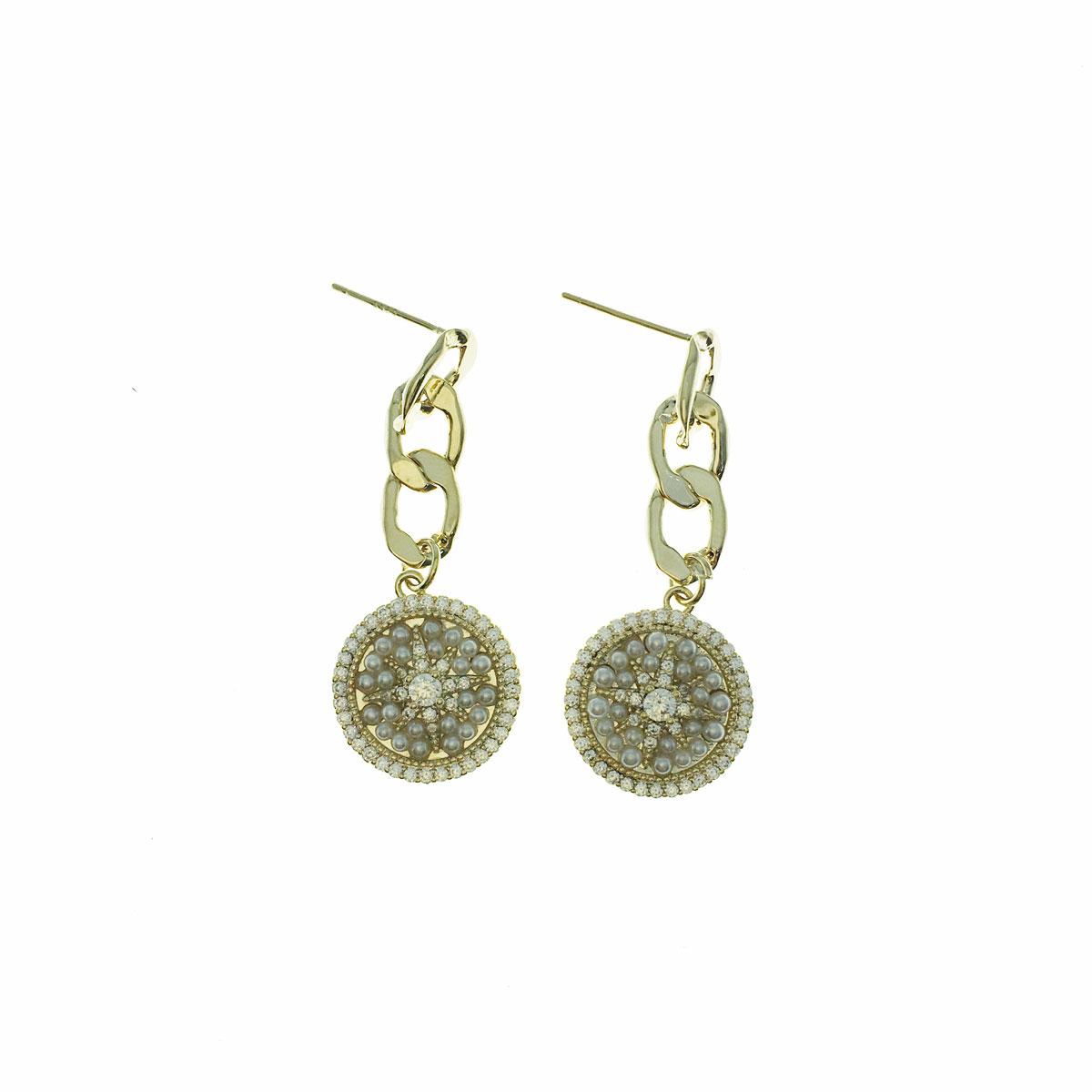 韓國 925純銀 水鑽 珍珠 簍空 垂墜感 耳針式 耳環