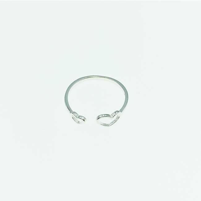 韓國 925純銀 簍空 雙愛心 可調式 戒指