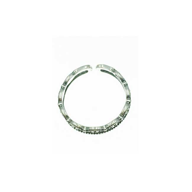 韓國 925純銀 雙圈簍空 個性款 可調式 戒指