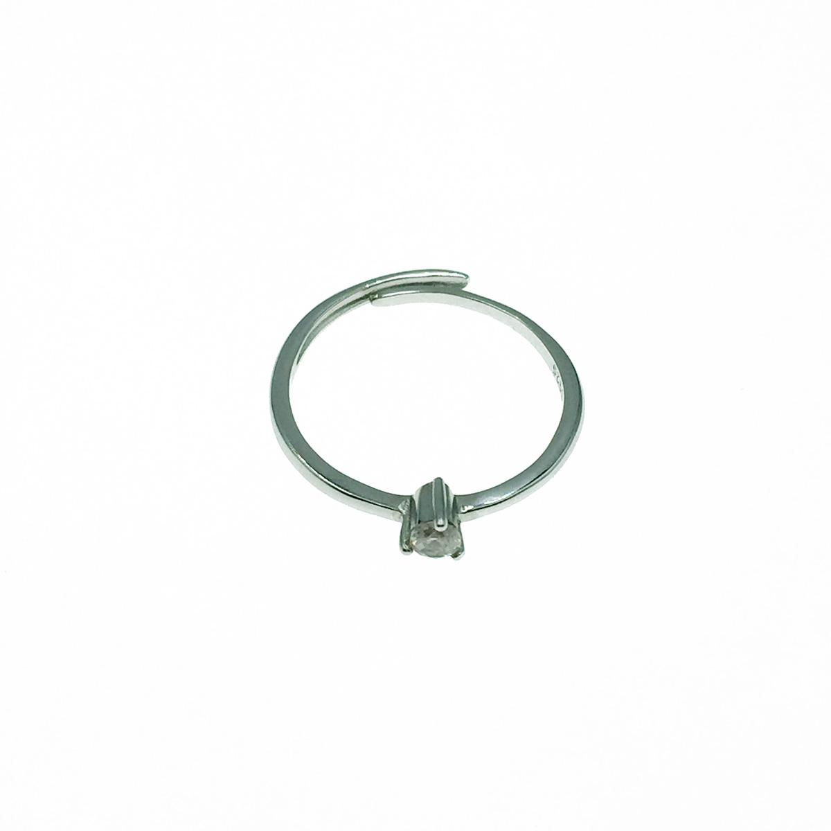 韓國 925純銀 水鑽 爪鑽 單鑽 可調式 戒指
