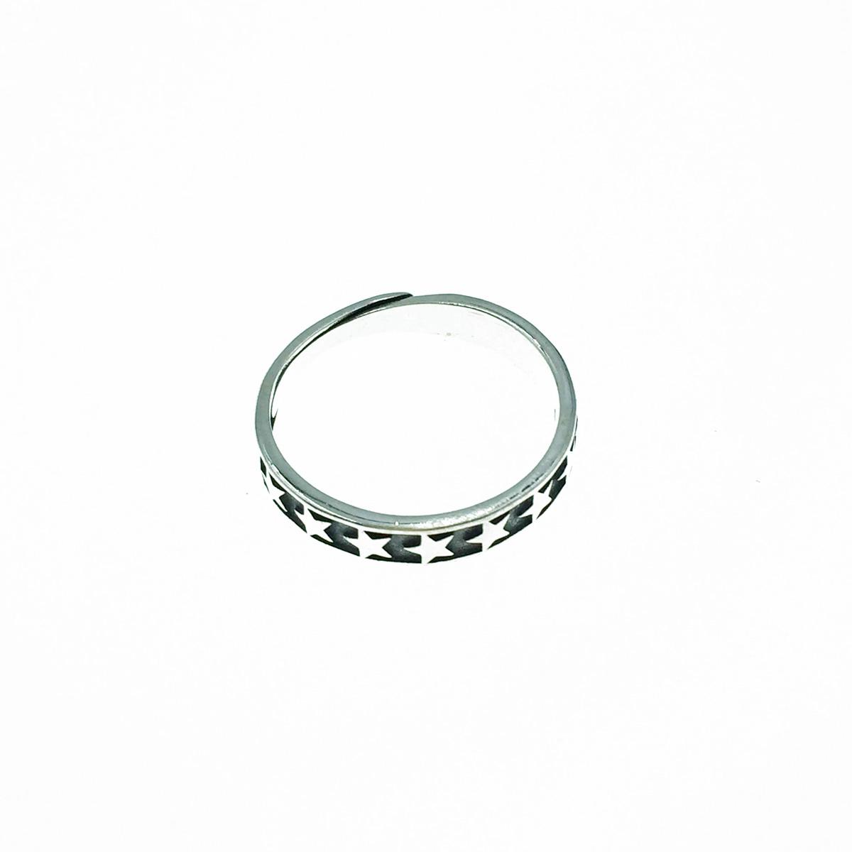 韓國 925純銀 星星 歐美金屬風 可調式 戒指