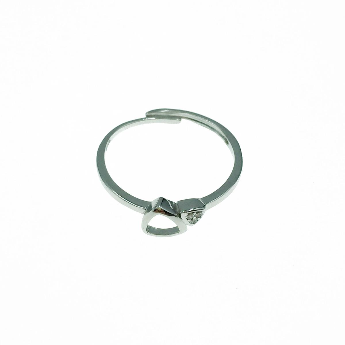 韓國 925純銀 簍空三角形 水鑽 可調式 戒指