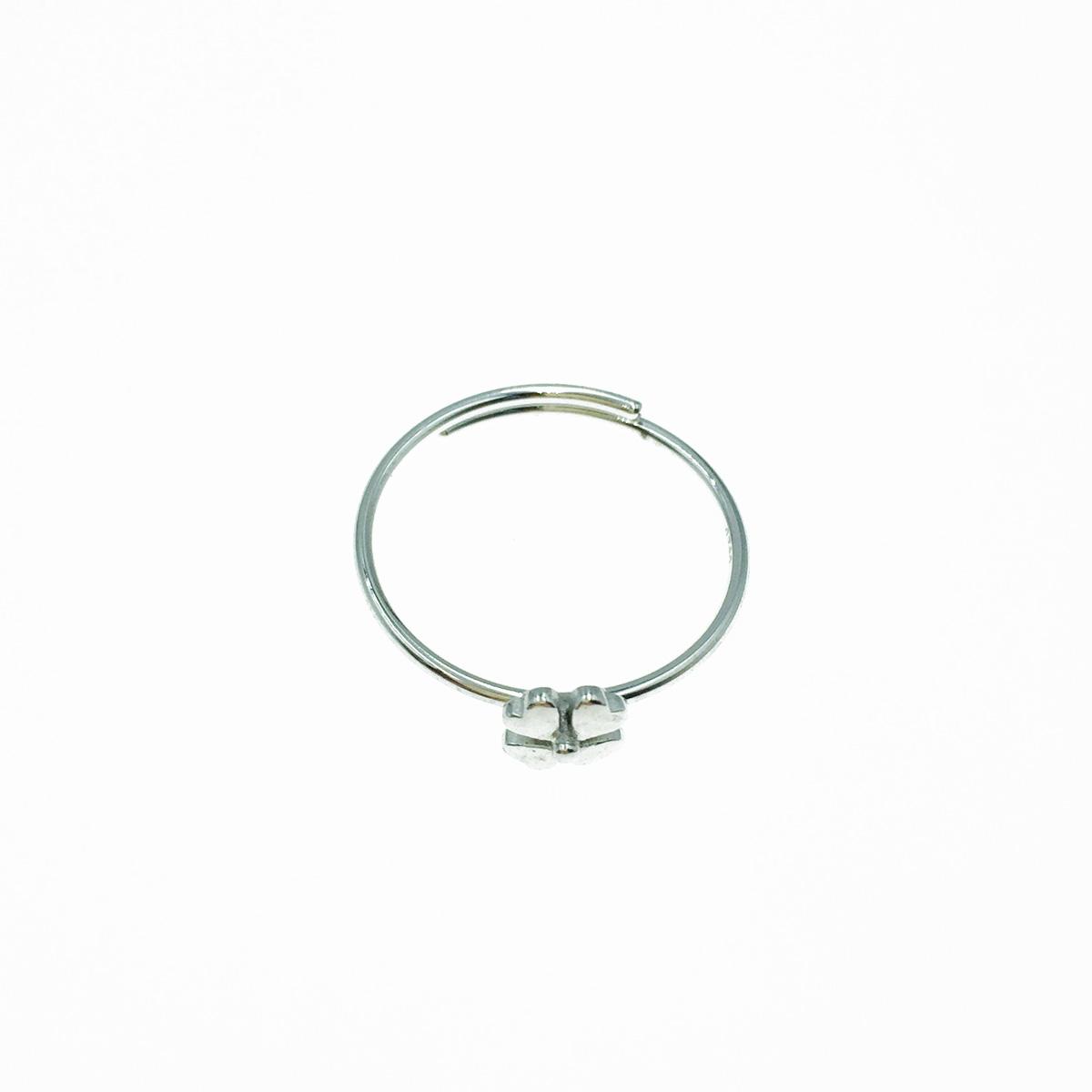韓國 925純銀 幸運草 可調式 戒指