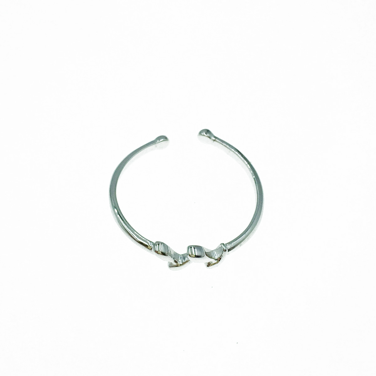 韓國 925純銀 簡約 小清新 可調式 戒指