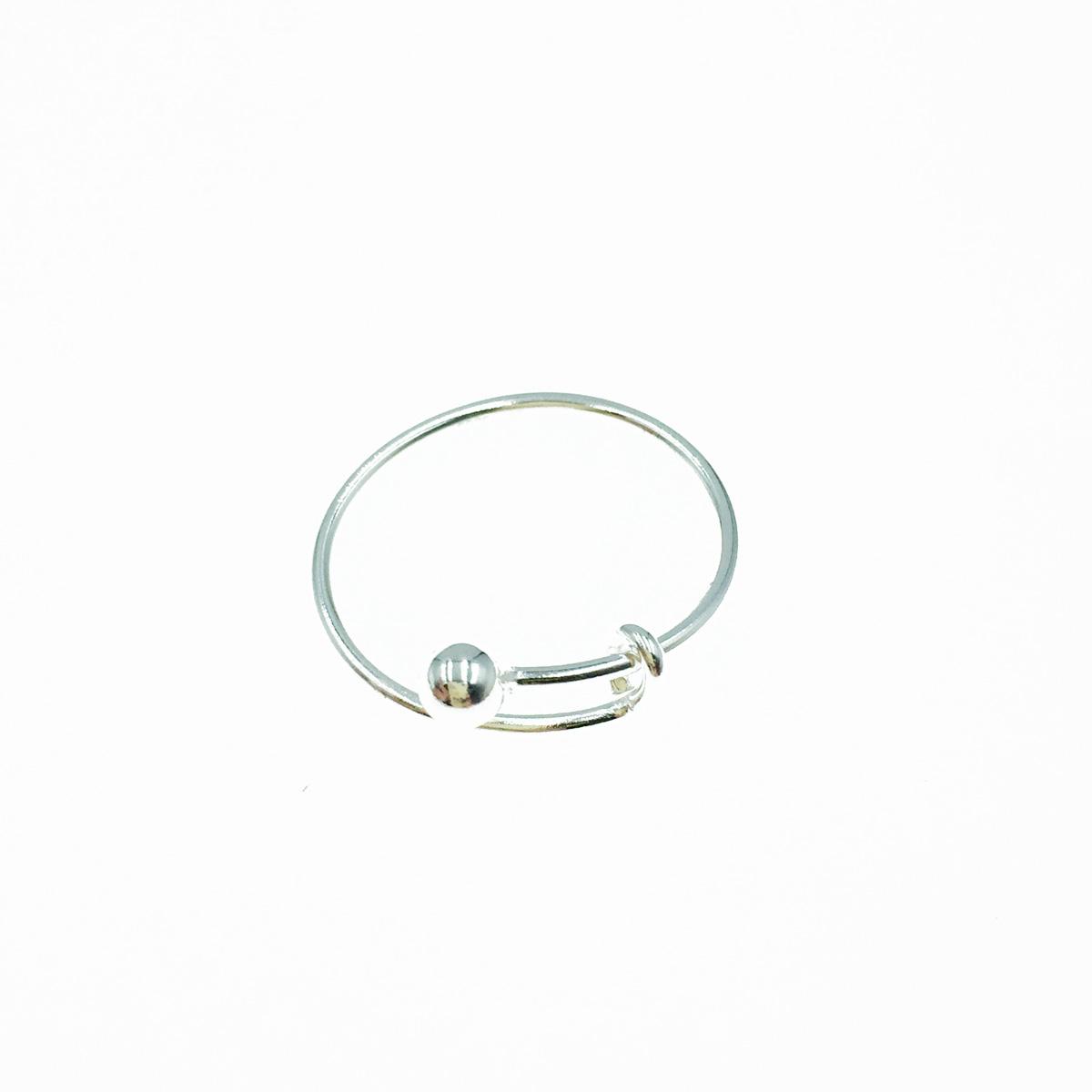 韓國 925純銀 簡約金屬款 可調式 戒指