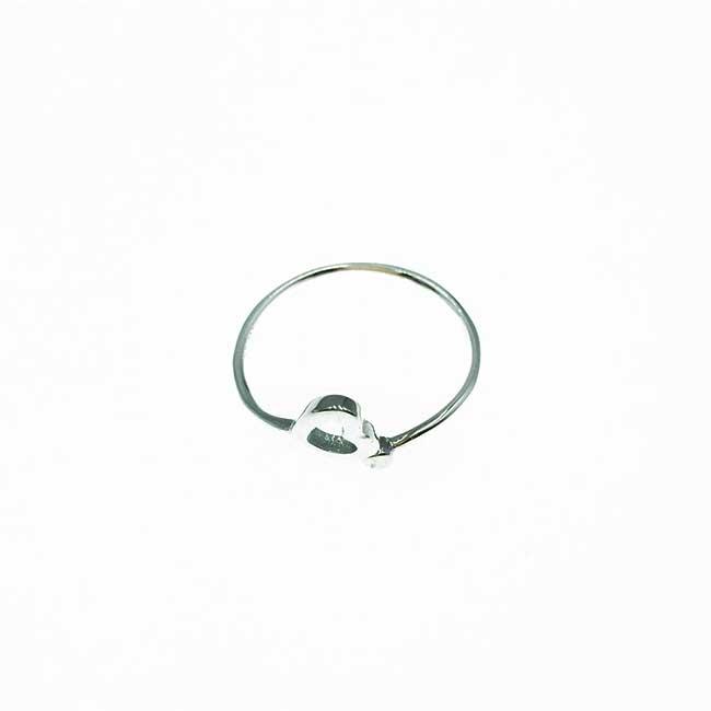 韓國 925純銀 簍空愛心 甜美風 可調式 戒指
