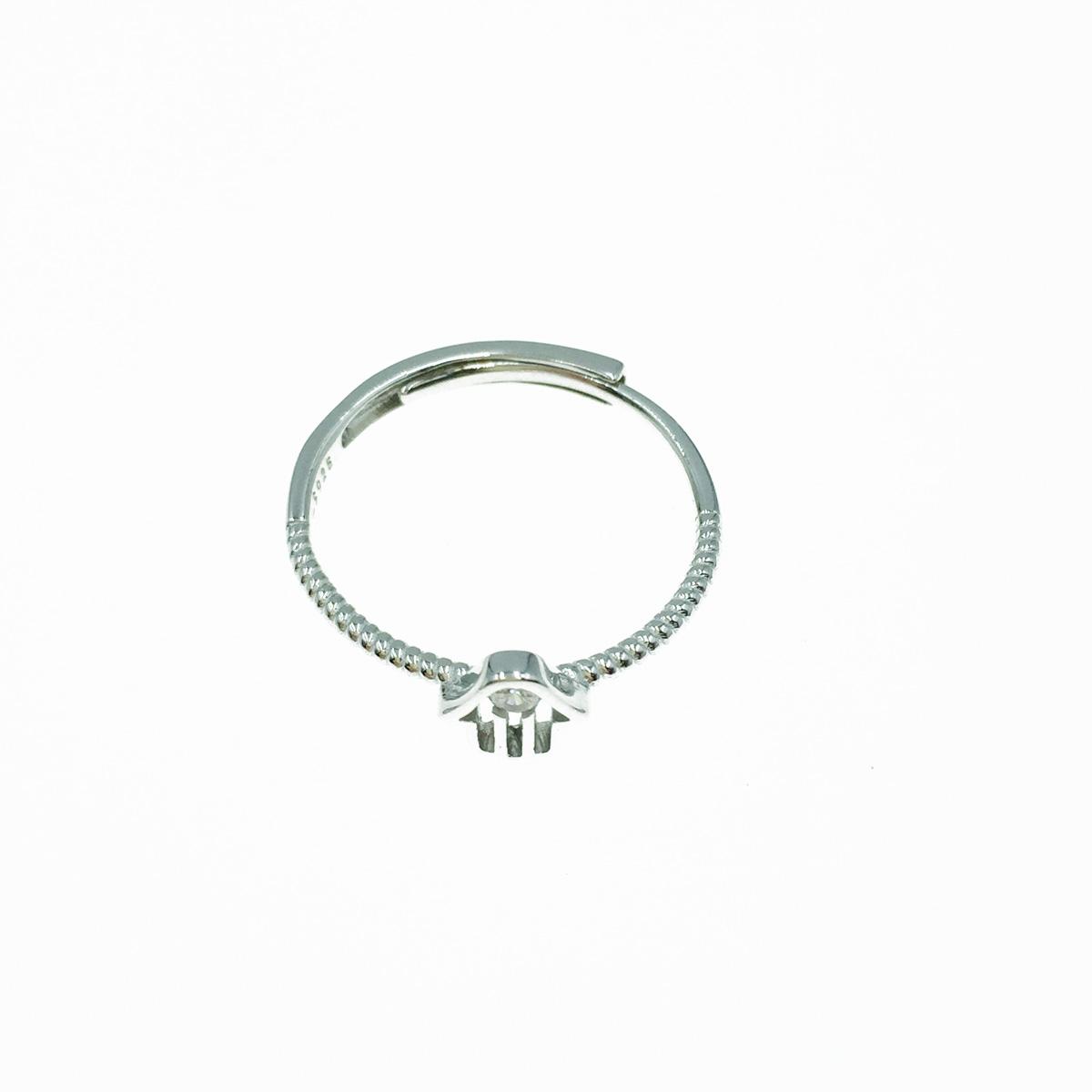 韓國 925純銀 水鑽 可調式 戒指