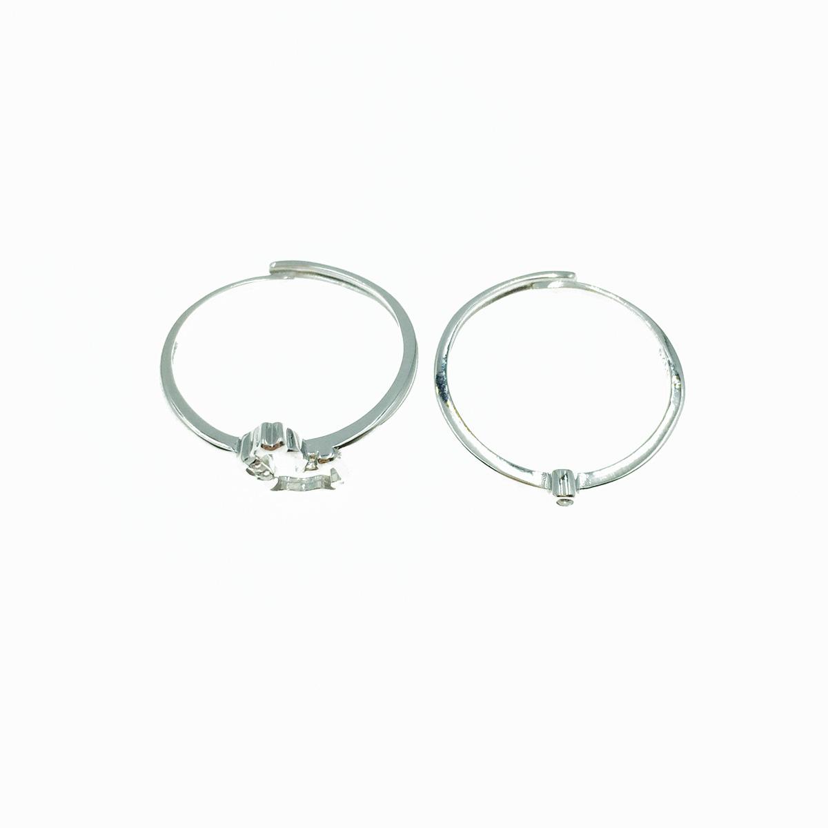 韓國 925純銀 雙入組 水鑽 可調式 戒指