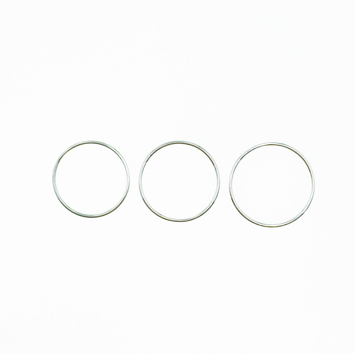 韓國 925純銀 素 簡約金屬 #12~#16 戒指