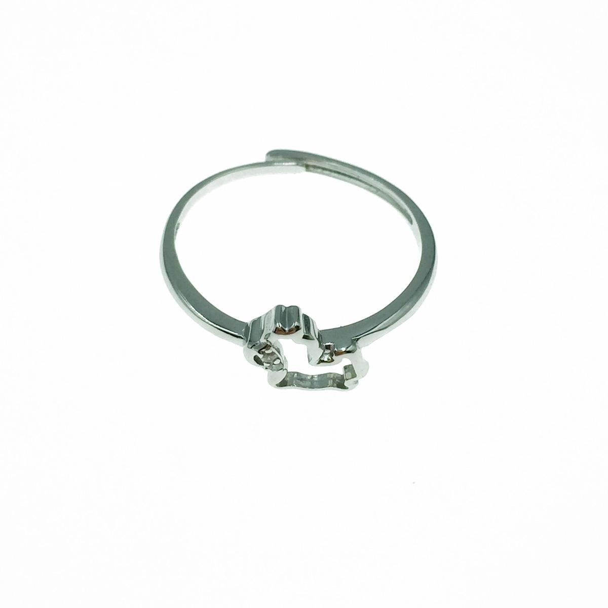 韓國 925純銀 簍空 水鑽 可調式 戒指